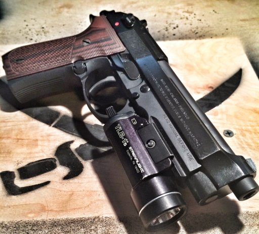 The marksman's Beretta 92A1 used for the double action test