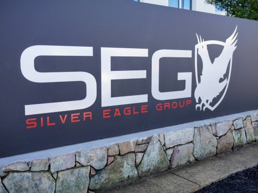 Silver Eagle Group's sign in front of the facility
