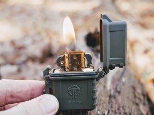 Thrym Pyrovault with classic brass Zippo insert