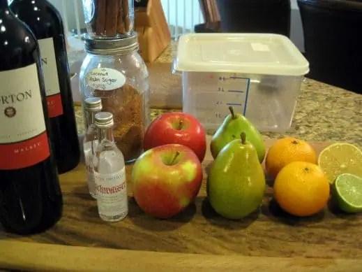 ingredients to make Fall Sangria
