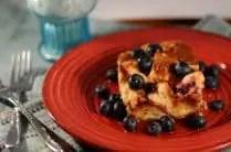 Blueberry Overnight Baked French Toast