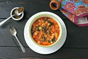 Chickpea Stew with Bulgur and Za'atar from www.everydaymaven.com