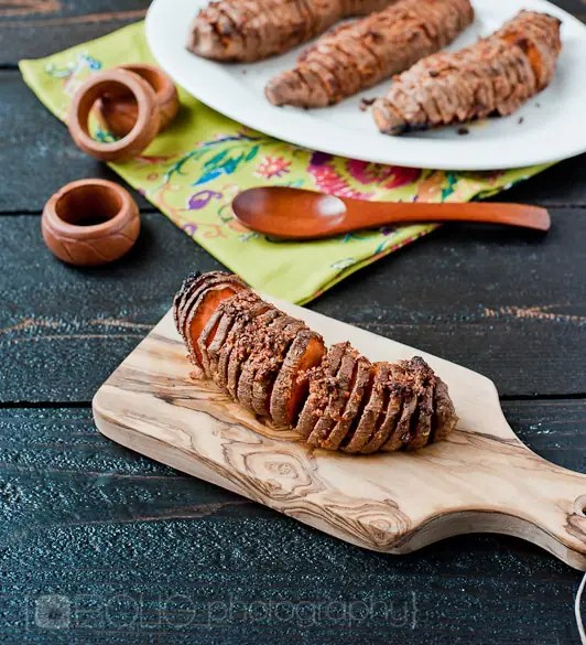 Hasselback Sweet Potatoes Recipe from www.everydaymaven.com