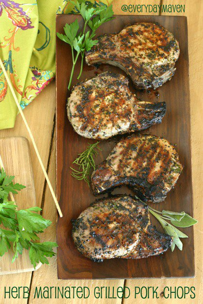 Herb Marinated Pork Chops Recipe. Paleo Pork Chops Recipe. Grilled Pork Chops Recipe from www.everydaymaven.com