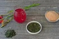 ingredients to make homemade kombucha tea