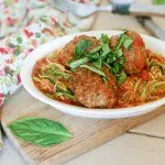 Paleo Pesto Meatballs from www.everydaymaven.com