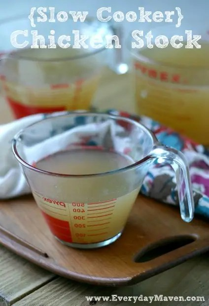 Slow Cooker Chicken Stock from www.everydaymaven.com