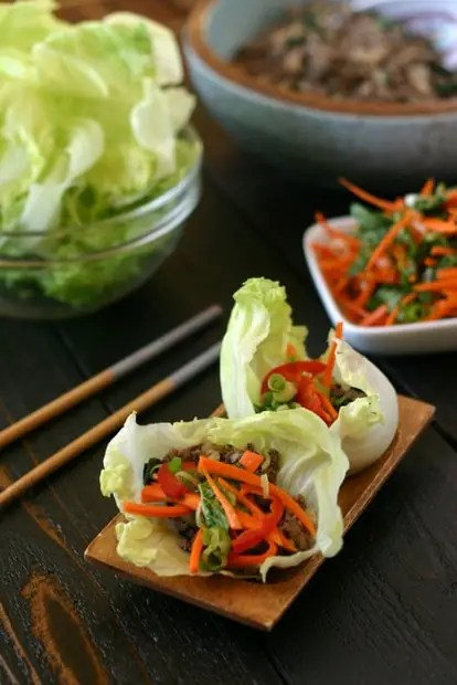 Thai Beef Lettuce Wraps from www.everydaymaven.com
