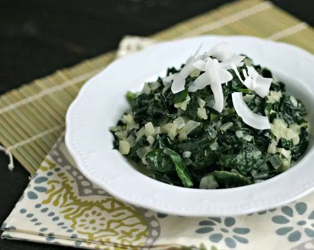 Vegan Creamed Kale from www.everydaymaven.com
