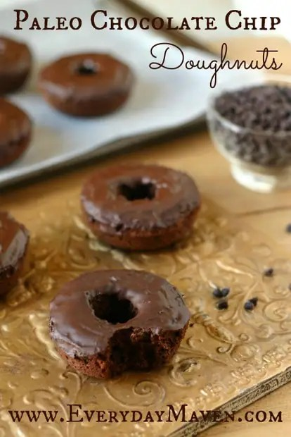 Paleo Chocolate Chip Doughnuts from www.everydaymaven.com