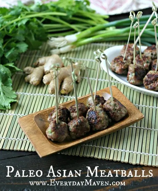 Paleo Asian Meatballs from www.everydaymaven.com