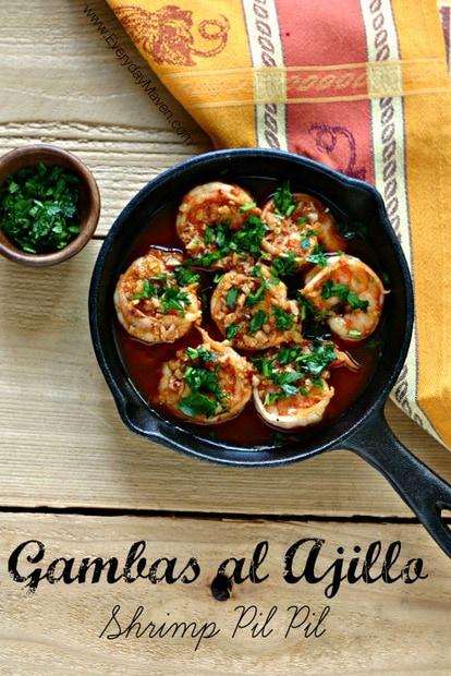 Shrimp Pil Pil (Gambas al Ajillo) from www.EverydayMaven.com