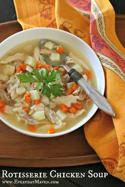 Rotisserie Chicken Soup from www.EverydayMaven.com