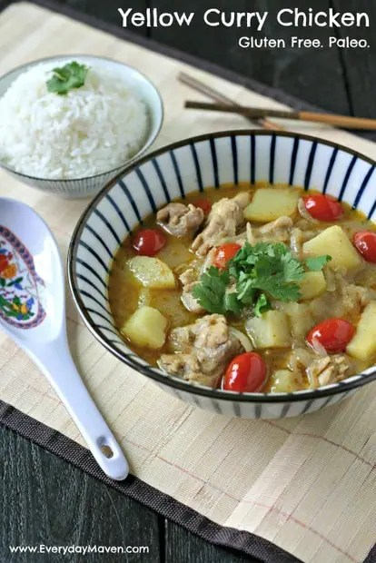 Yellow Curry Chicken from www.EverydayMaven.com