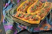 Cheesy Stuffed Delicata Squash from www.EverydayMaven.com
