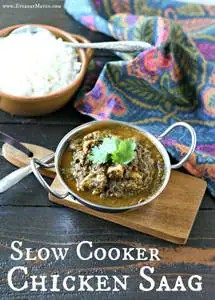 Slow Cooker Chicken Saag from www.EverydayMaven.com