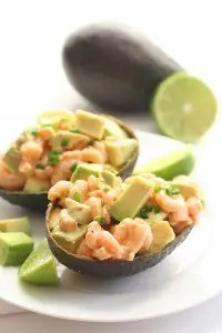 Spicy Shrimp and Avocado Salad from All Day I Dream About Food on www.EverydayMaven.com