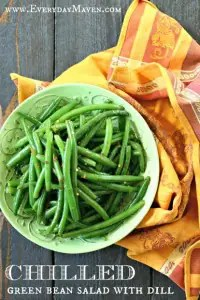 Chilled Green Bean Salad with Dill from www.EverydayMaven.com
