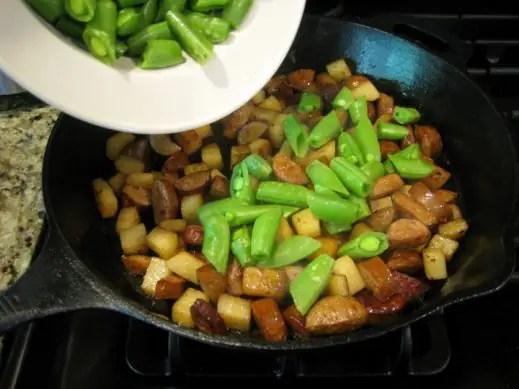 Low Carb Chorizo and Jicama Skillet