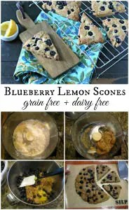 Grain Free Blueberry Lemon Scones from www.EverydayMaven.com