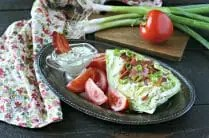 BLT Salad with Creamy Bacon Dressing from www.EverydayMaven.com