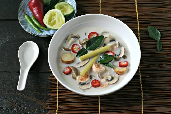 Tom Kha Soup with Shrimp from www.EverydayMaven.com