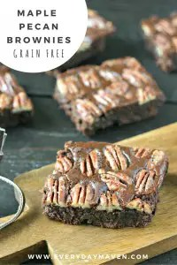 Maple Pecan Brownies from www.EverydayMaven.com