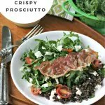 Lentil Salad with Feta and Crispy Prosciutto from www.EverydayMaven.com