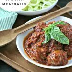 Slow Cooker Chicken Spinach Meatballs from www.EverydayMaven.com