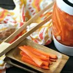 Fermented Garlic Carrot Sticks from www.EverydayMaven.com
