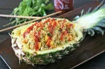 Spicy Vegetarian Pineapple Fried Rice from www.everydaymaven.com