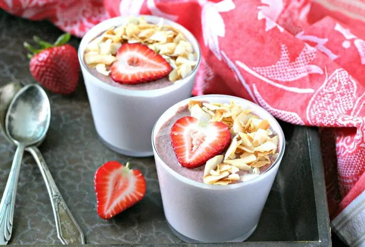 Coconut Strawberry Chia Seed Pudding from www.EverydayMaven.com