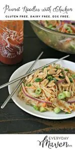 Peanut Noodles with Chicken from www.EverydayMaven.com