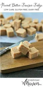 Vegan Peanut Butter Freezer Fudge from www.EverydayMaven.com