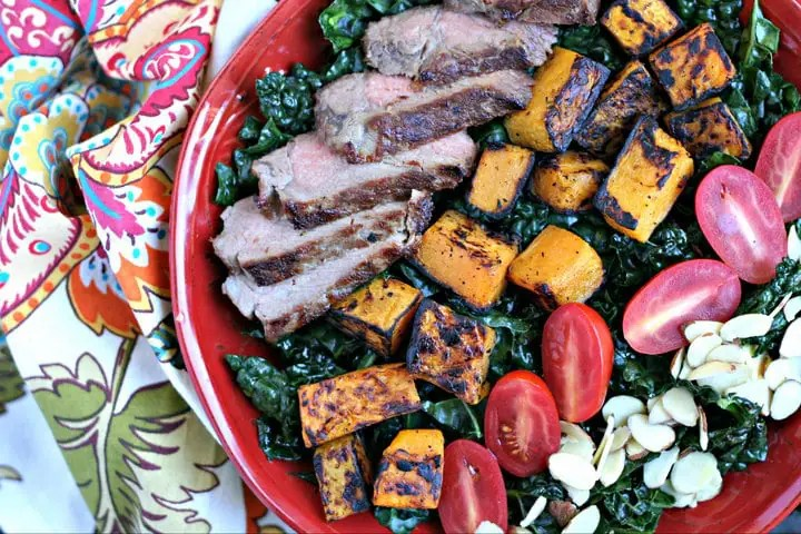 Autumn Steak Salad with Kale from www.EverydayMaven.com