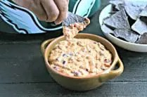 3-Ingredient Slow Cooker Creamy Salsa Dip from www.EverydayMaven.com