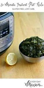 3-Minute Instant Pot Kale from www.EverydayMaven.com