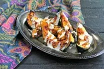 Paprika Roasted Acorn Squash with Garlic Tahini Drizzle from www.EverydayMaven.com