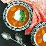 Instant Pot Vegan Red Lentil Soup with Butternut Squash from www.EverydayMaven.com