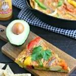 Vegetarian Fajita Frittata from www.EverydayMaven.com