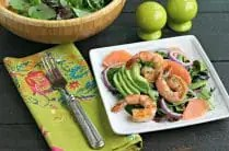Spring Salad with Ruby Red Grapefruit, Avocado and Shrimp from www.EverydayMaven.com