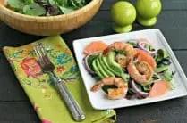 Spring Salad with Ruby Red Grapefruit, Avocado and Shrimp from www.EverydayMaven.com