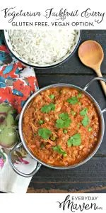 Vegetarian Jackfruit Curry from www.EverydayMaven.com