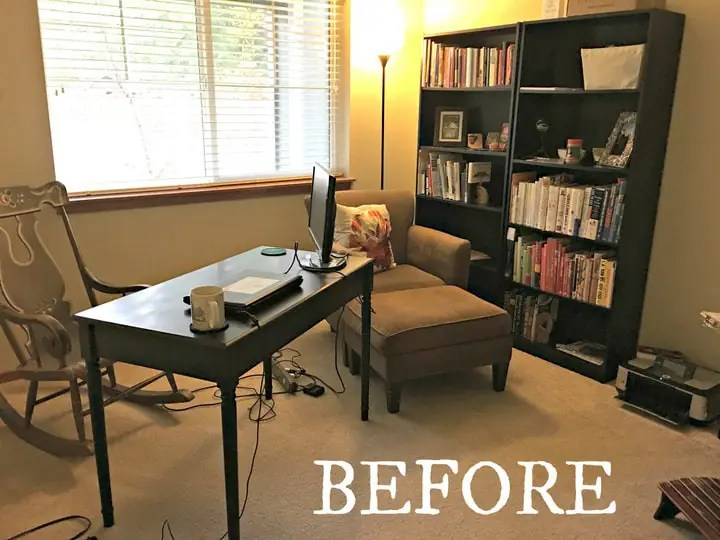 Before and After Home Office Makeover from www.EverydayMaven.com