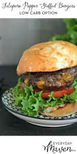 Jalapeño Popper Stuffed Burgers from www.EverydayMaven.com