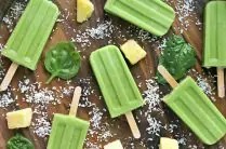 Green Piña Colada Popsicles from www.EverydayMaven.com