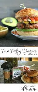 Grilled Taco Turkey Burgers from www.EverydayMaven.com