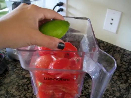 Preparing bone broth gazpacho from www.EverydayMaven.com