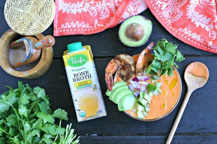 Bone Broth Gazpacho Recipe from www.EverydayMaven.com
