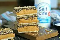Low Sodium Salted Peanut Butter Bars from www.EverydayMaven.com